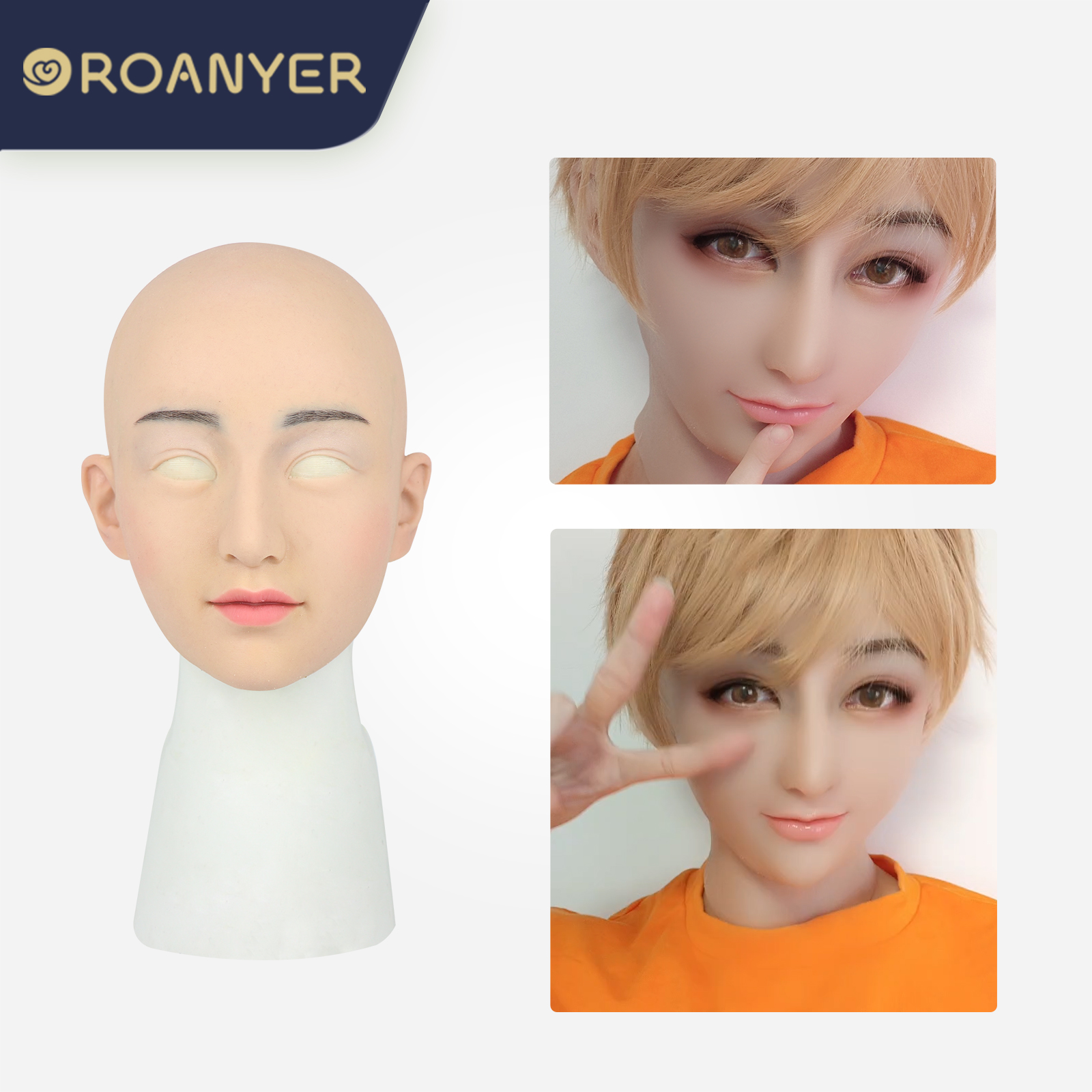 ROANYER 男の娘 女装 仮面 変装 マスク美人面具M4 new