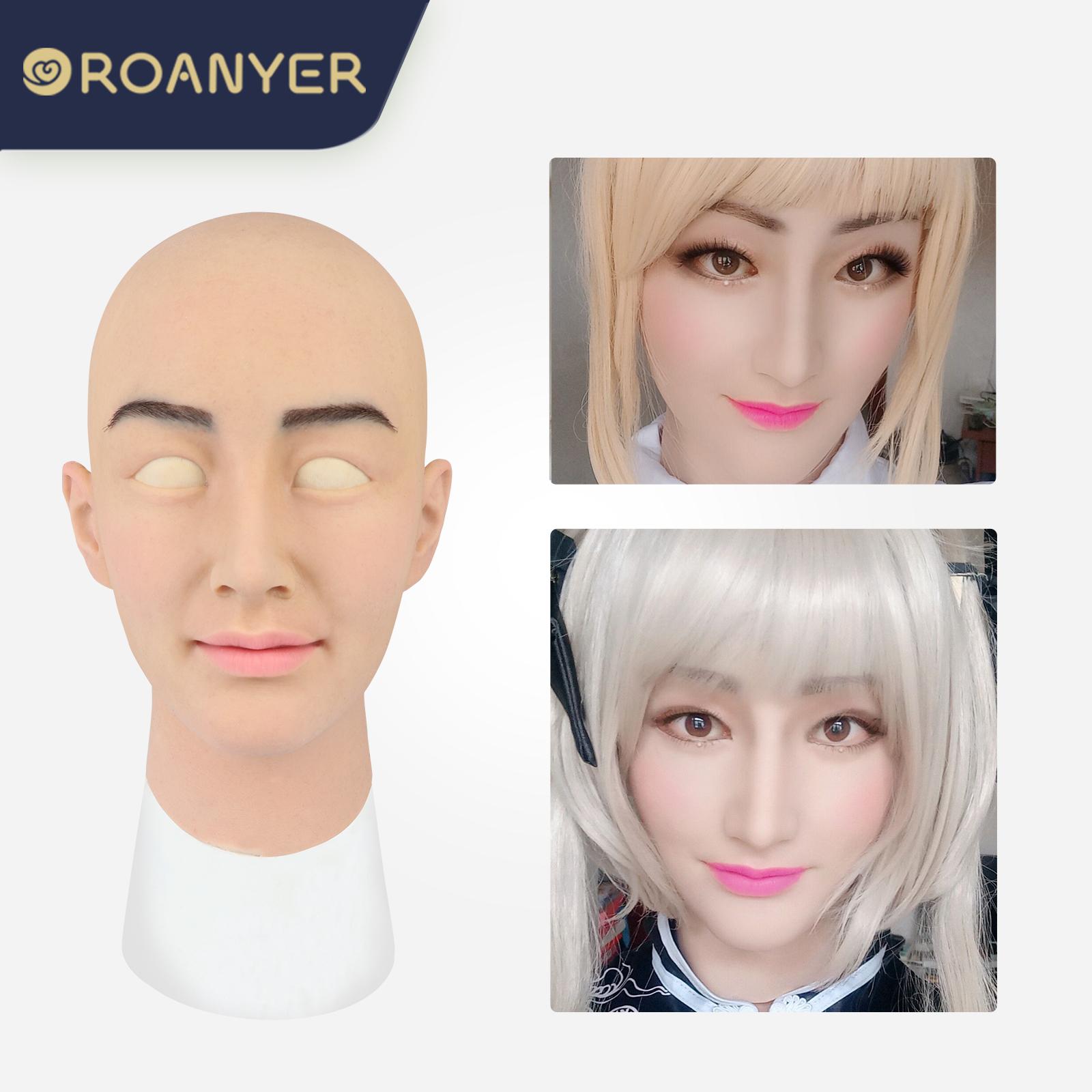 ROANYER 男の娘 仮面  男性用 メイク マスク美人陽ちゃん