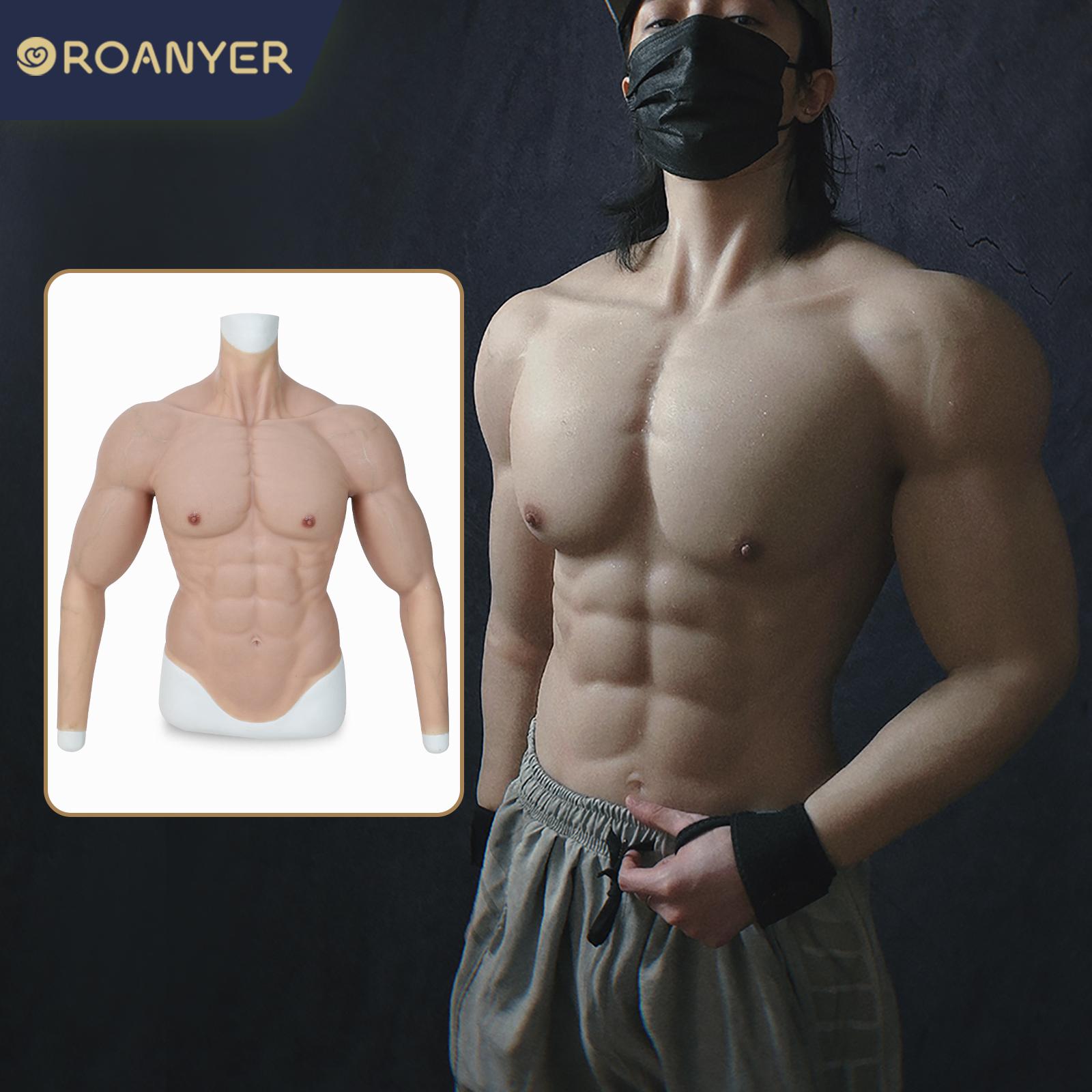 新作!ROANYER シリコン筋肉スーツ 偽上腕三頭筋 長袖