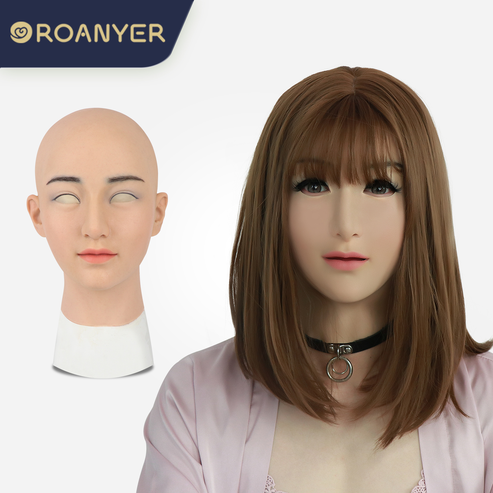 ROANYER 男の娘 女装 仮面 変装 マスク美人晴子