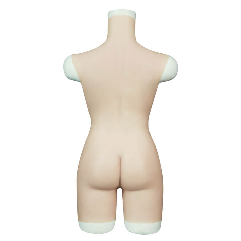 Roanyer  男の娘 女装スーツ  人工乳房 変装 レオタード  偽おっぱい  半身タイプ  Cカップ
