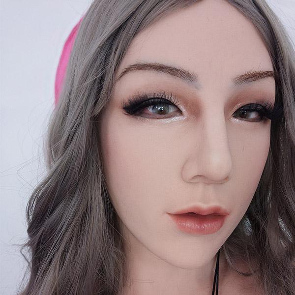 ROANYER 男の娘 女装マスク 人工乳房 仮面&偽乳カバー美恵子