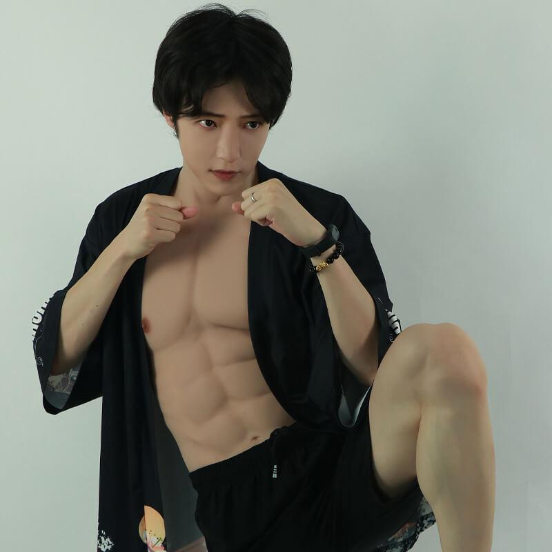 ★ROANYER 偽腹筋 偽筋肉 マッチョ シリコン 筋肉 仮装 コスプレ