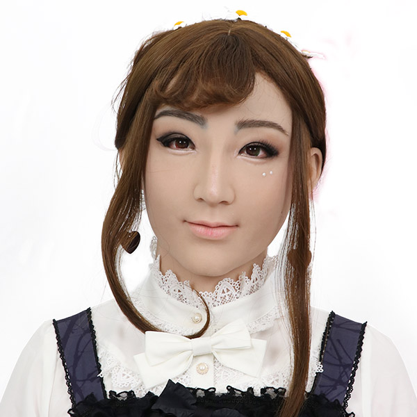 ROANYER 男の娘 女装 仮面 変装 マスク美人 月ちゃん